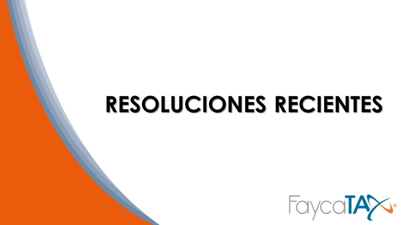 RESOLUCIONES RECIENTES