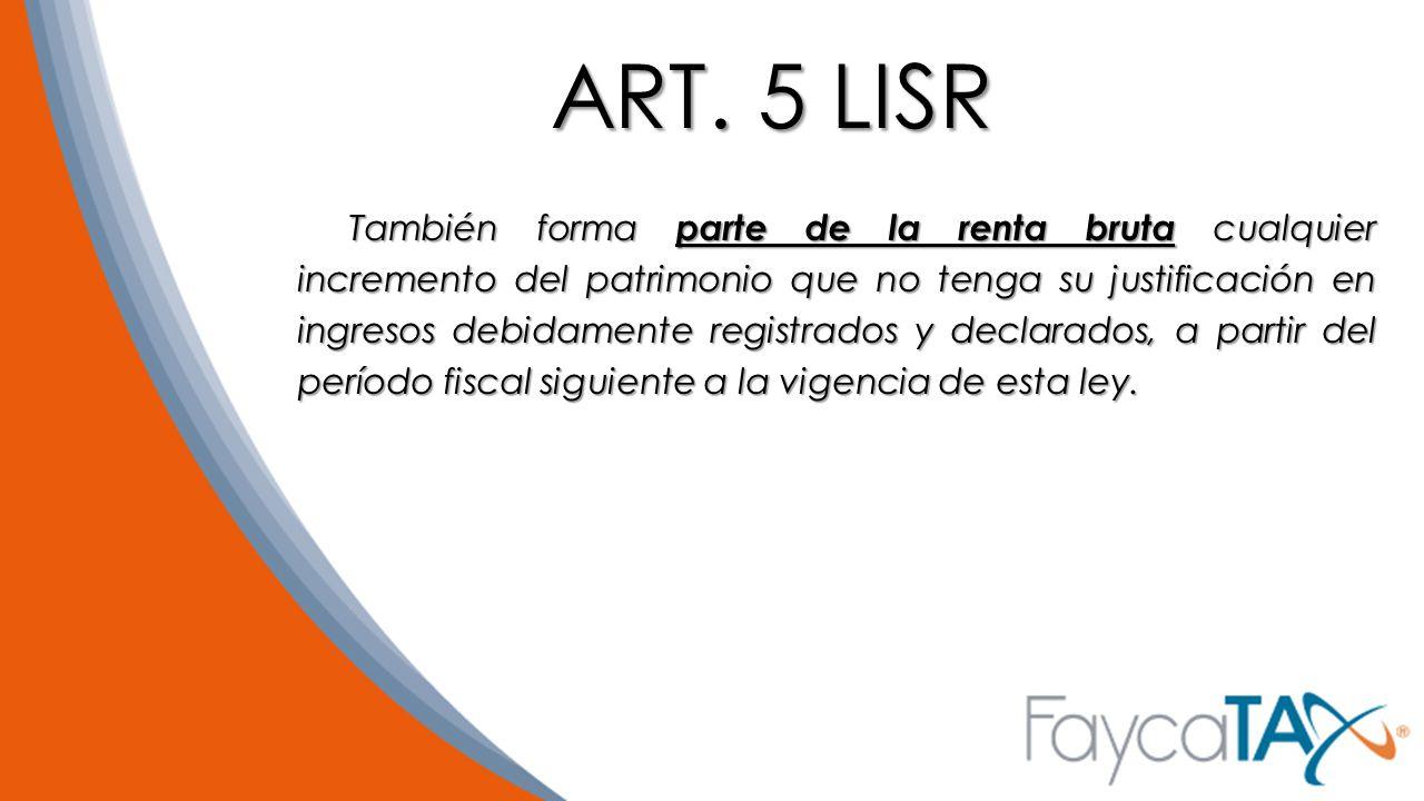 ART. 5 LISR
