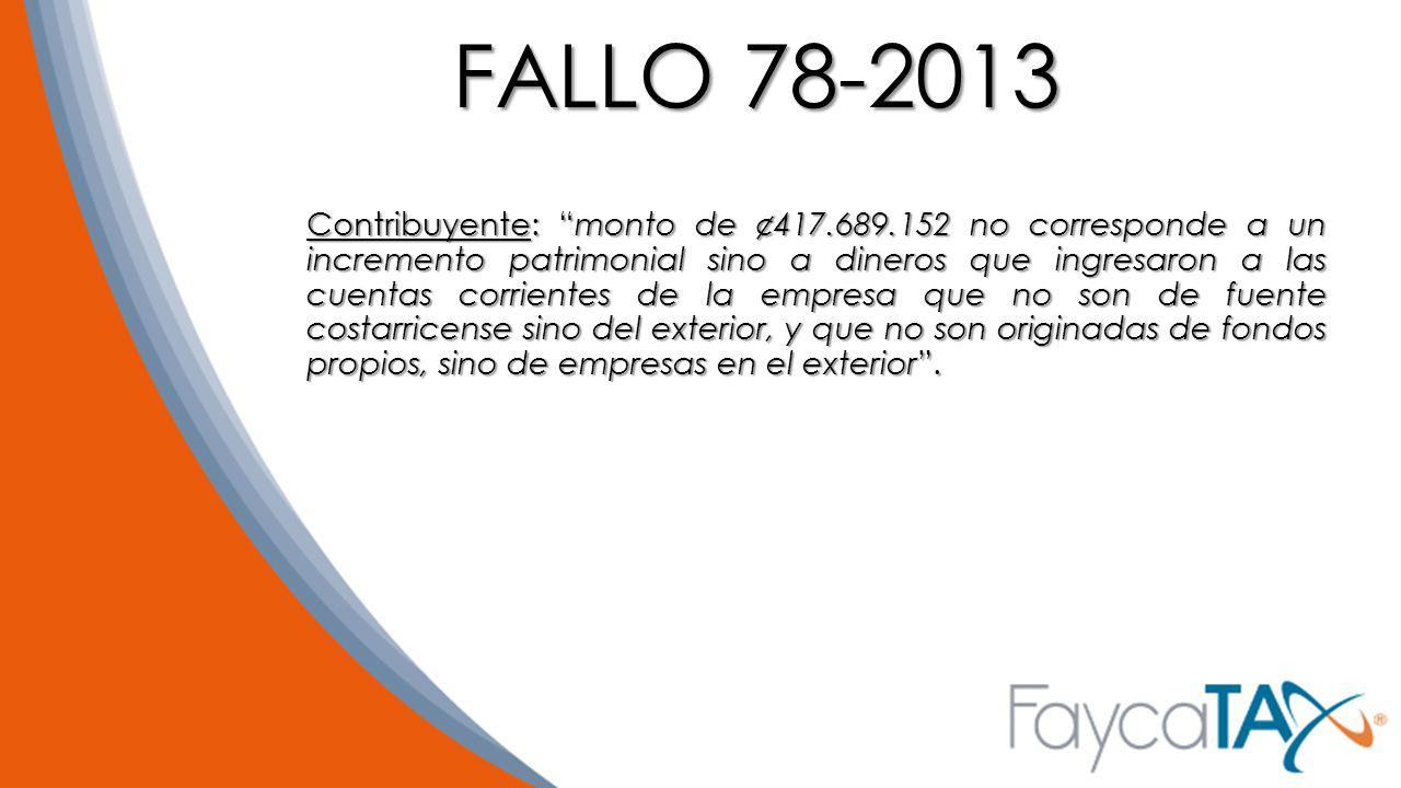 FALLO 78-2013