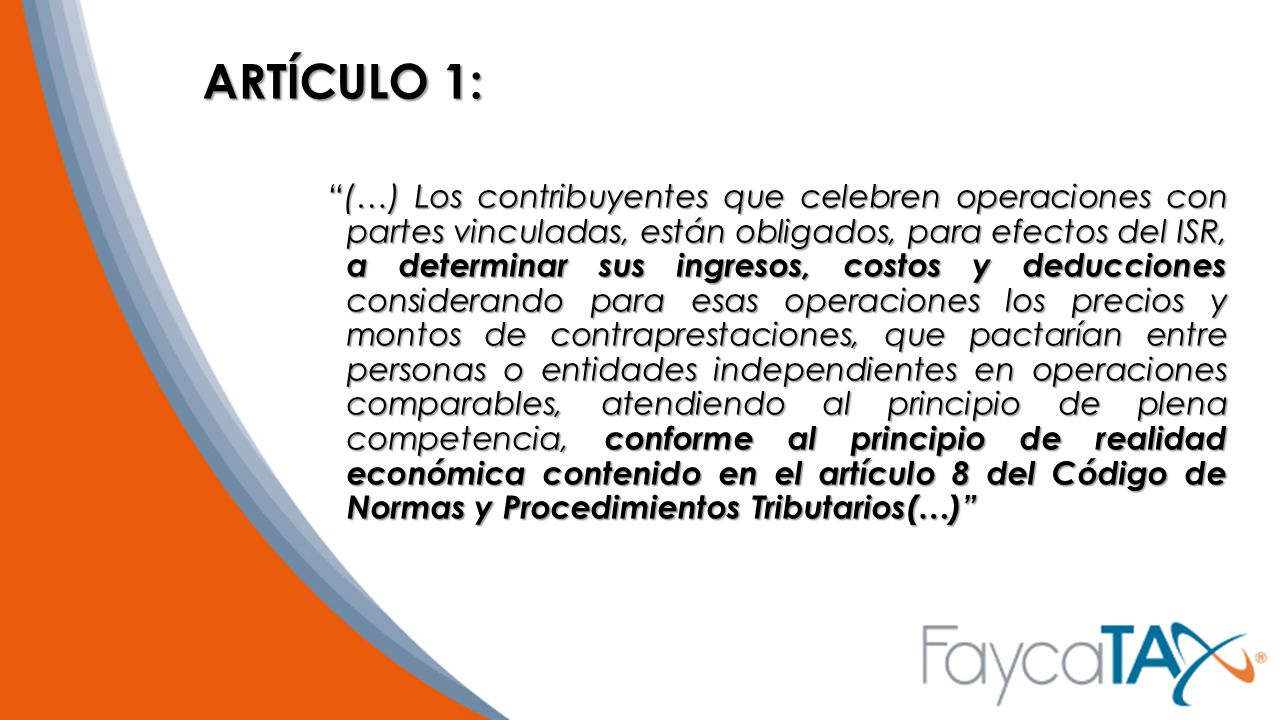 ARTÍCULO 1:
