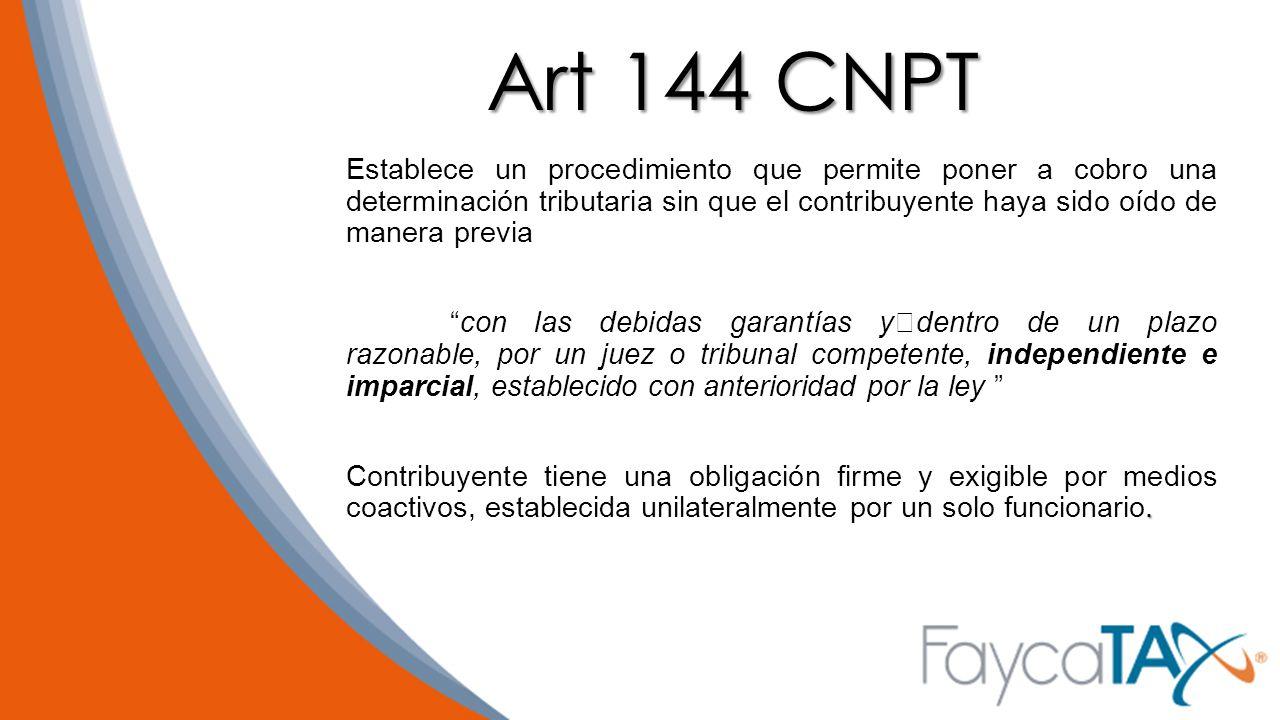 Art 144 CNPT