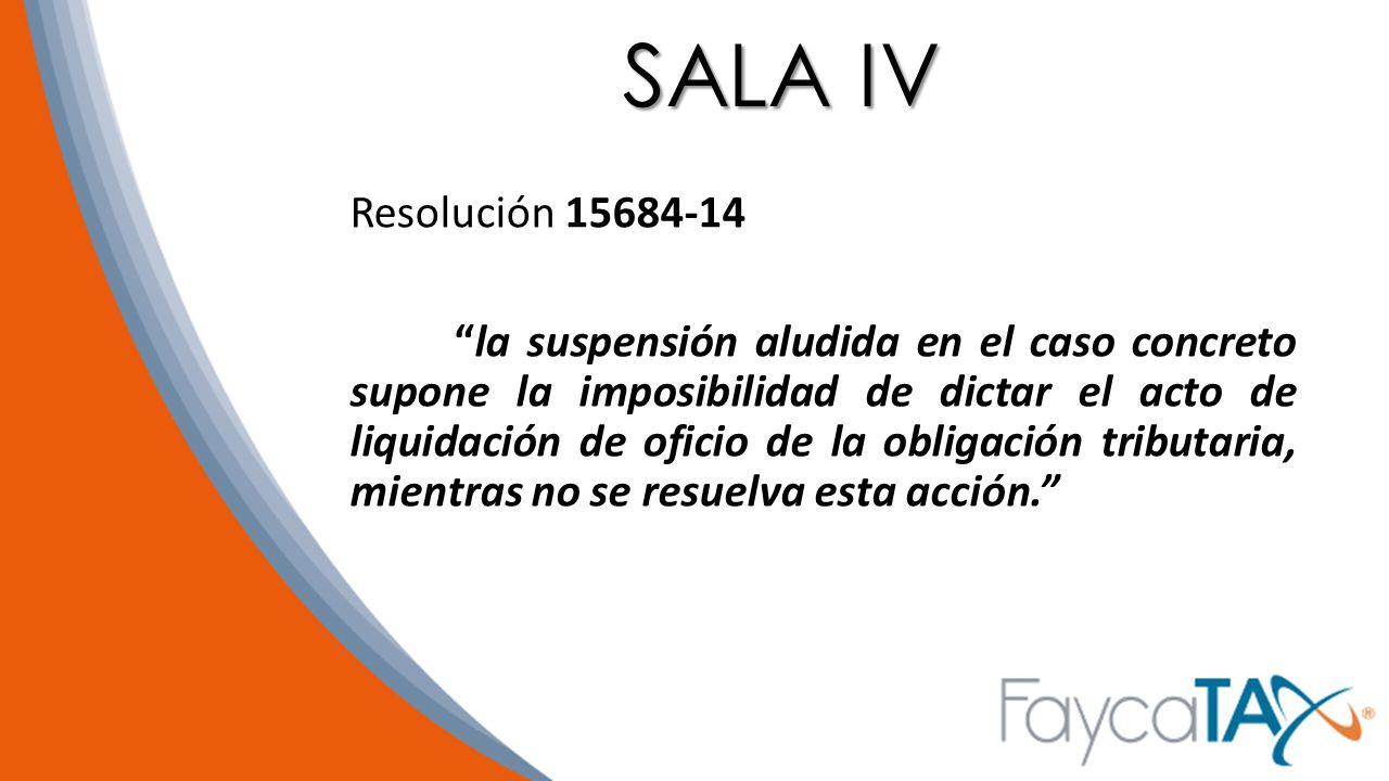 SALA IV Resolución 15684-14.
