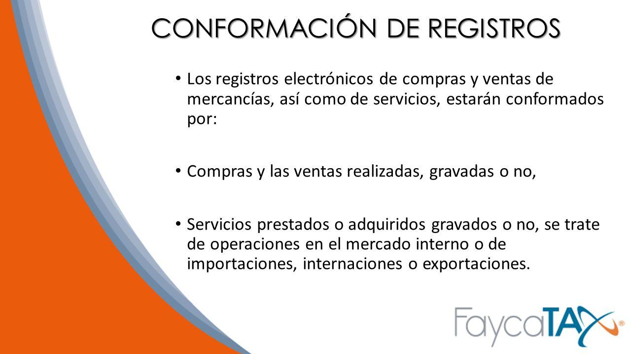 CONFORMACIÓN DE REGISTROS