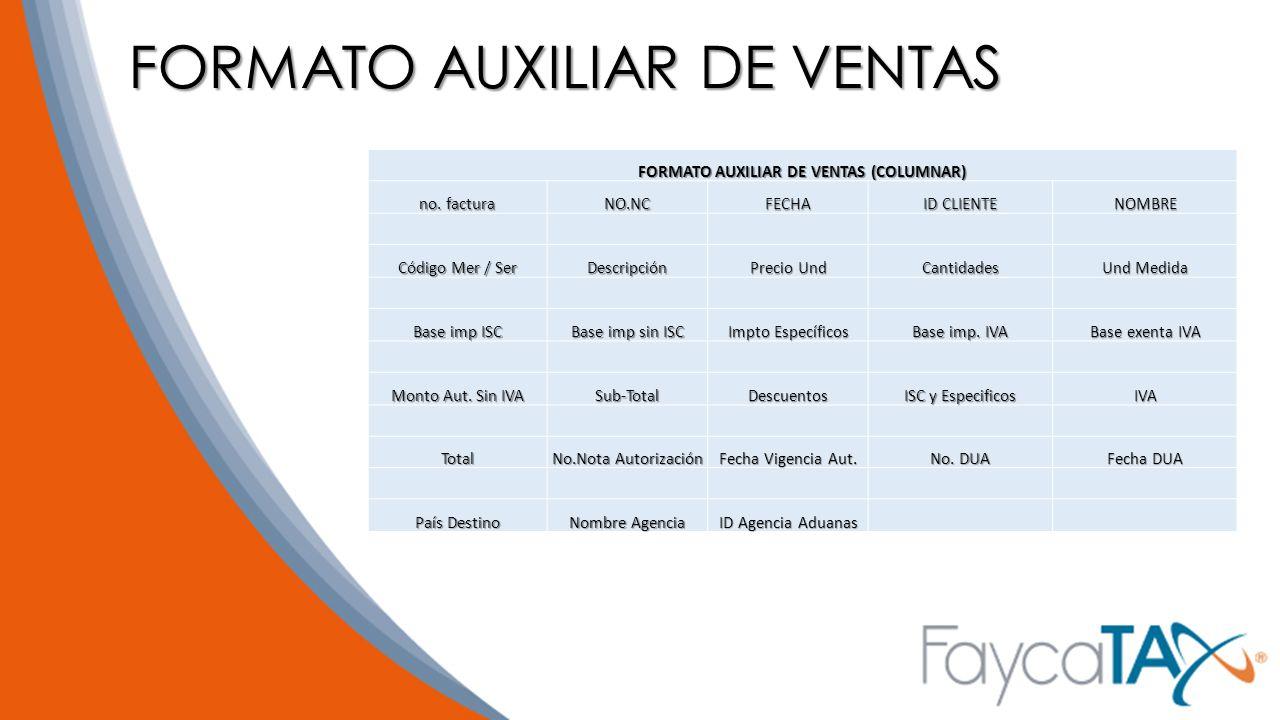 FORMATO AUXILIAR DE VENTAS