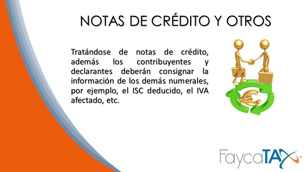 NOTAS DE CRÉDITO Y OTROS