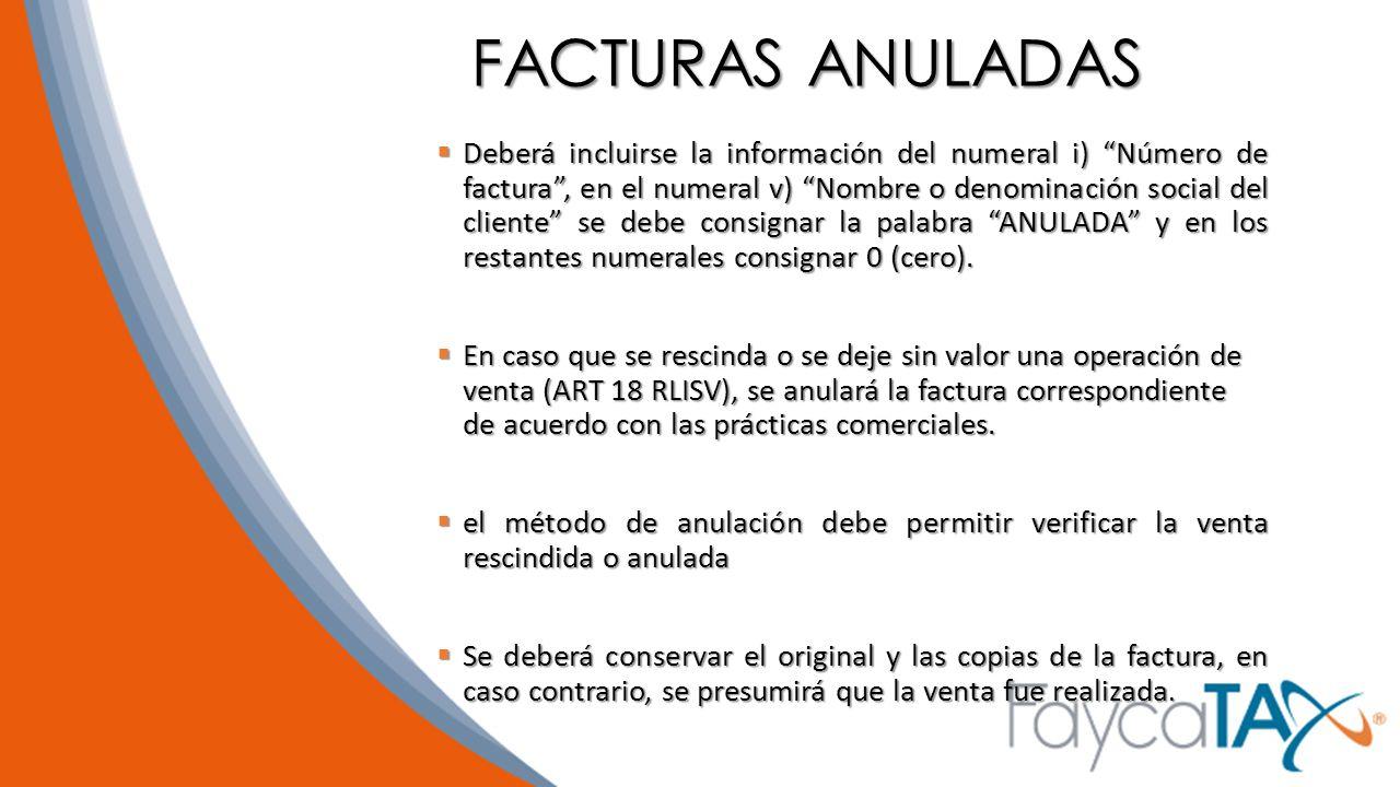 FACTURAS ANULADAS
