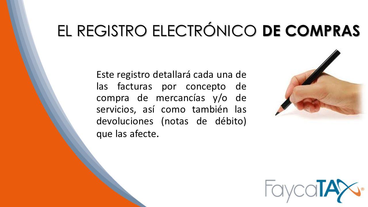 EL REGISTRO ELECTRÓNICO DE COMPRAS