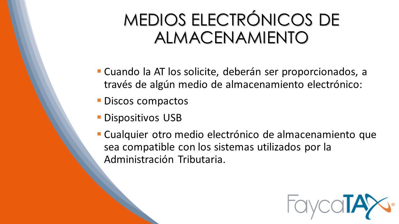 MEDIOS ELECTRÓNICOS DE ALMACENAMIENTO