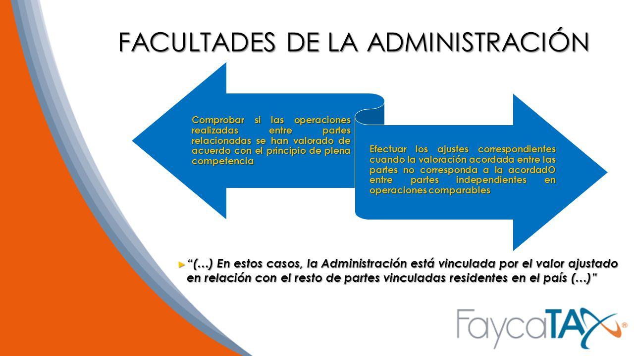 FACULTADES DE LA ADMINISTRACIÓN