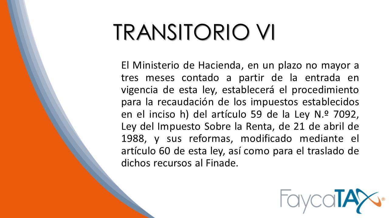 TRANSITORIO VI