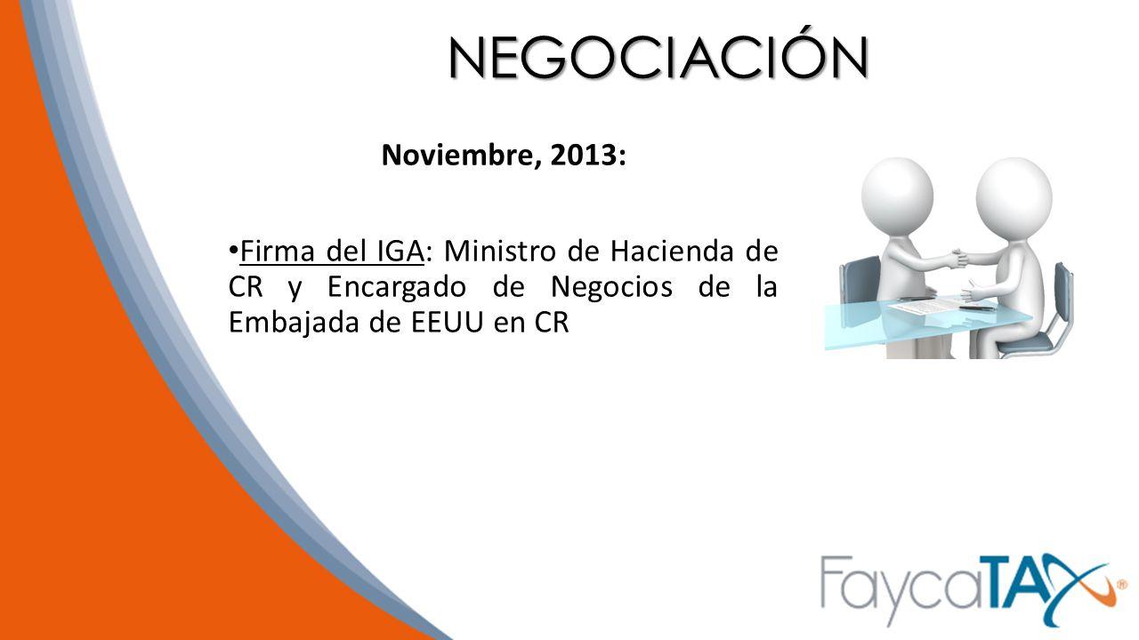 NEGOCIACIÓN Noviembre, 2013:
