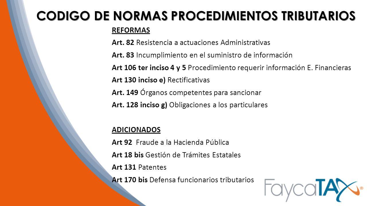 CODIGO DE NORMAS PROCEDIMIENTOS TRIBUTARIOS