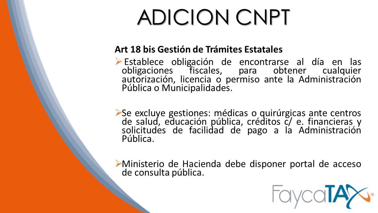 ADICION CNPT Art 18 bis Gestión de Trámites Estatales