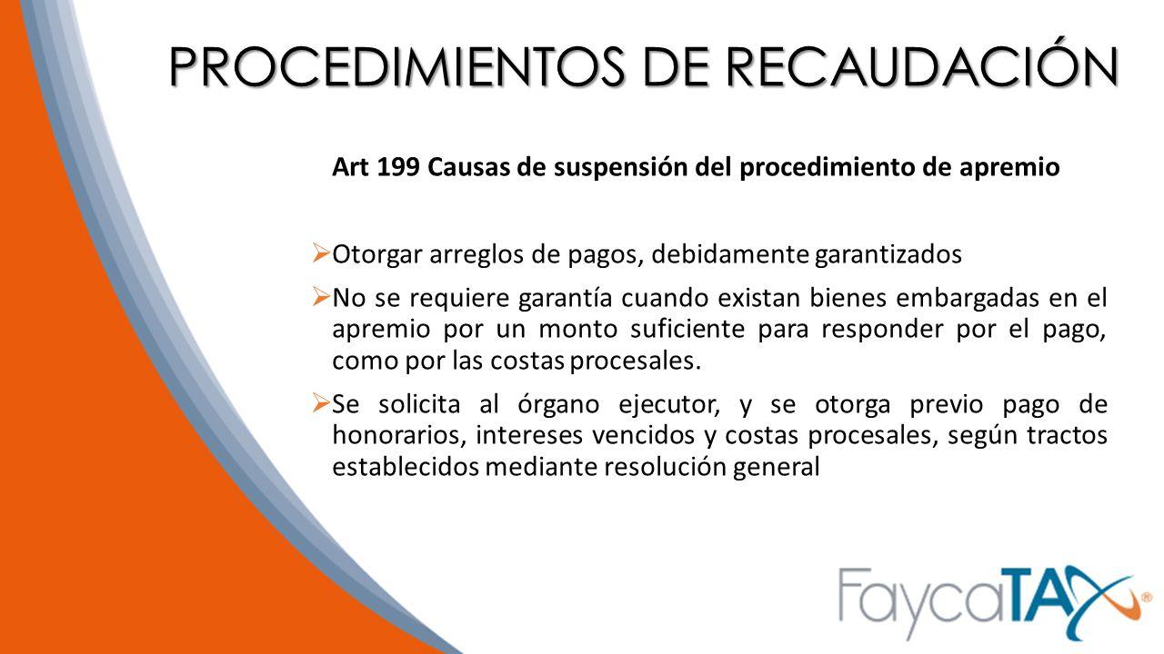 PROCEDIMIENTOS DE RECAUDACIÓN