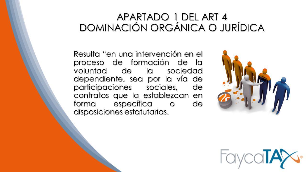 APARTADO 1 DEL ART 4 DOMINACIÓN ORGÁNICA O JURÍDICA