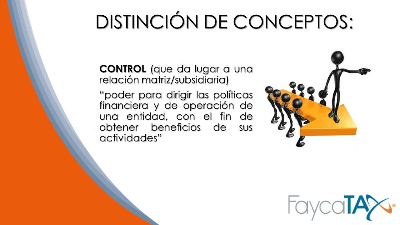 DISTINCIÓN DE CONCEPTOS: