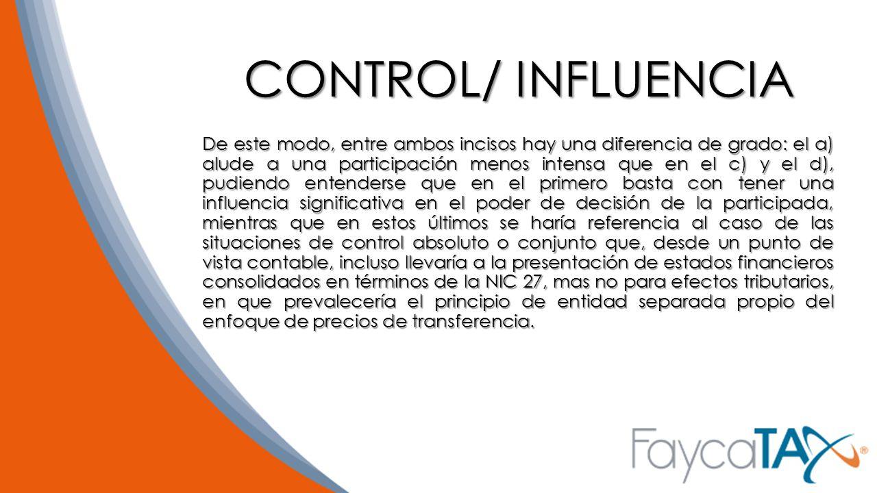 CONTROL/ INFLUENCIA