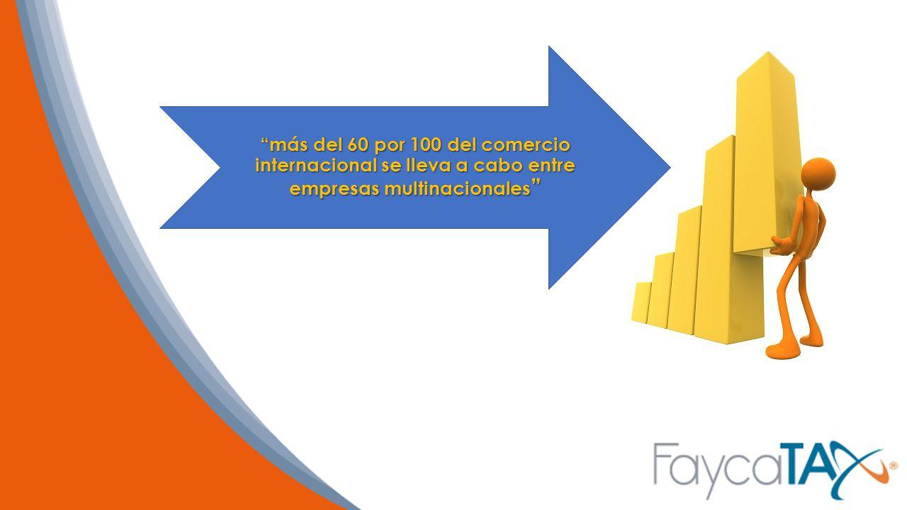 más del 60 por 100 del comercio internacional se lleva a cabo entre empresas multinacionales
