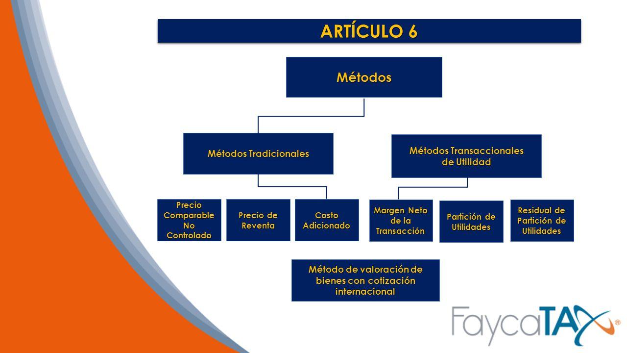 ARTÍCULO 6 Métodos Métodos Tradicionales Métodos Transaccionales