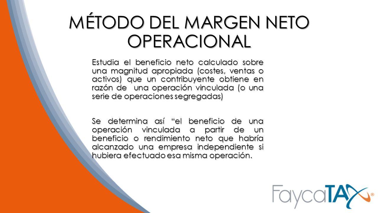 MÉTODO DEL MARGEN NETO OPERACIONAL