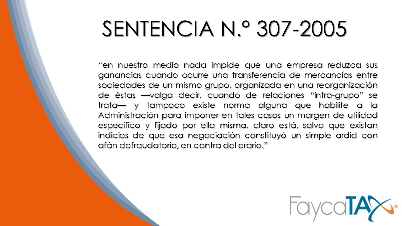 SENTENCIA N.° 307-2005