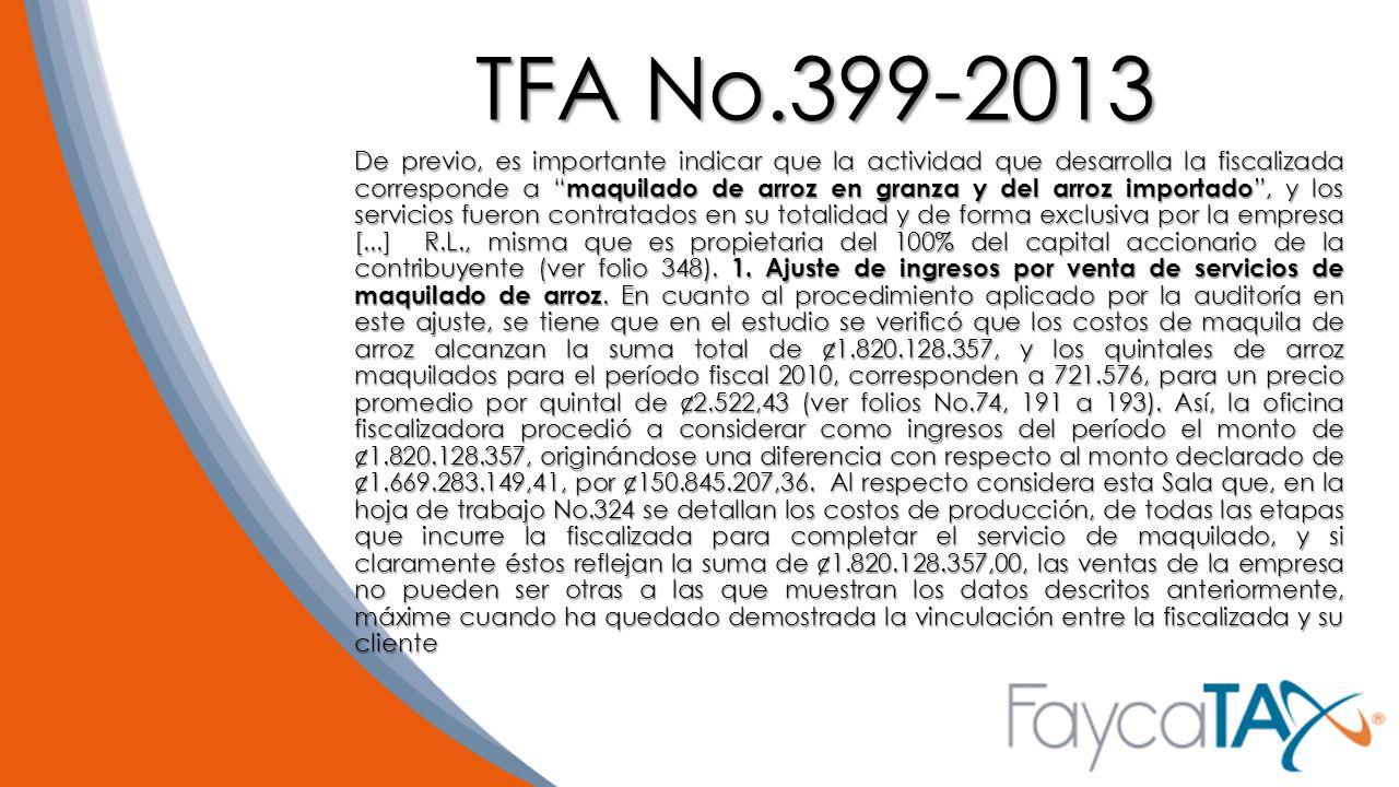 TFA No.399-2013