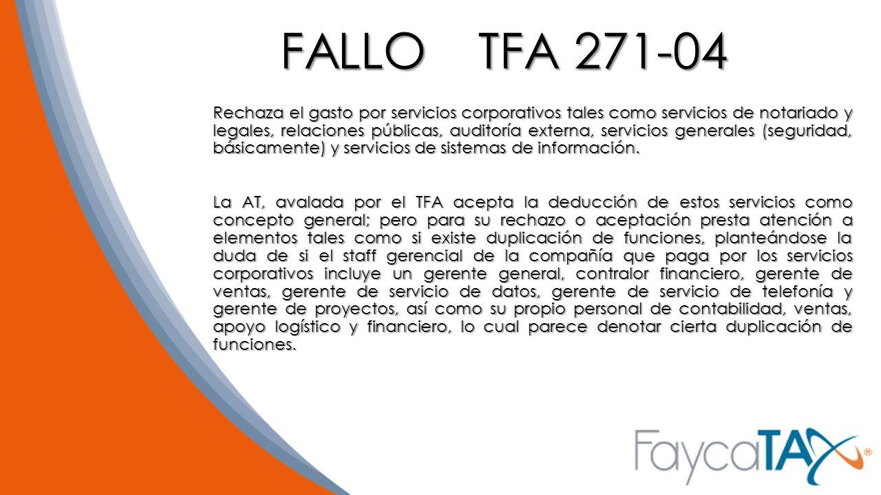 FALLO TFA 271-04