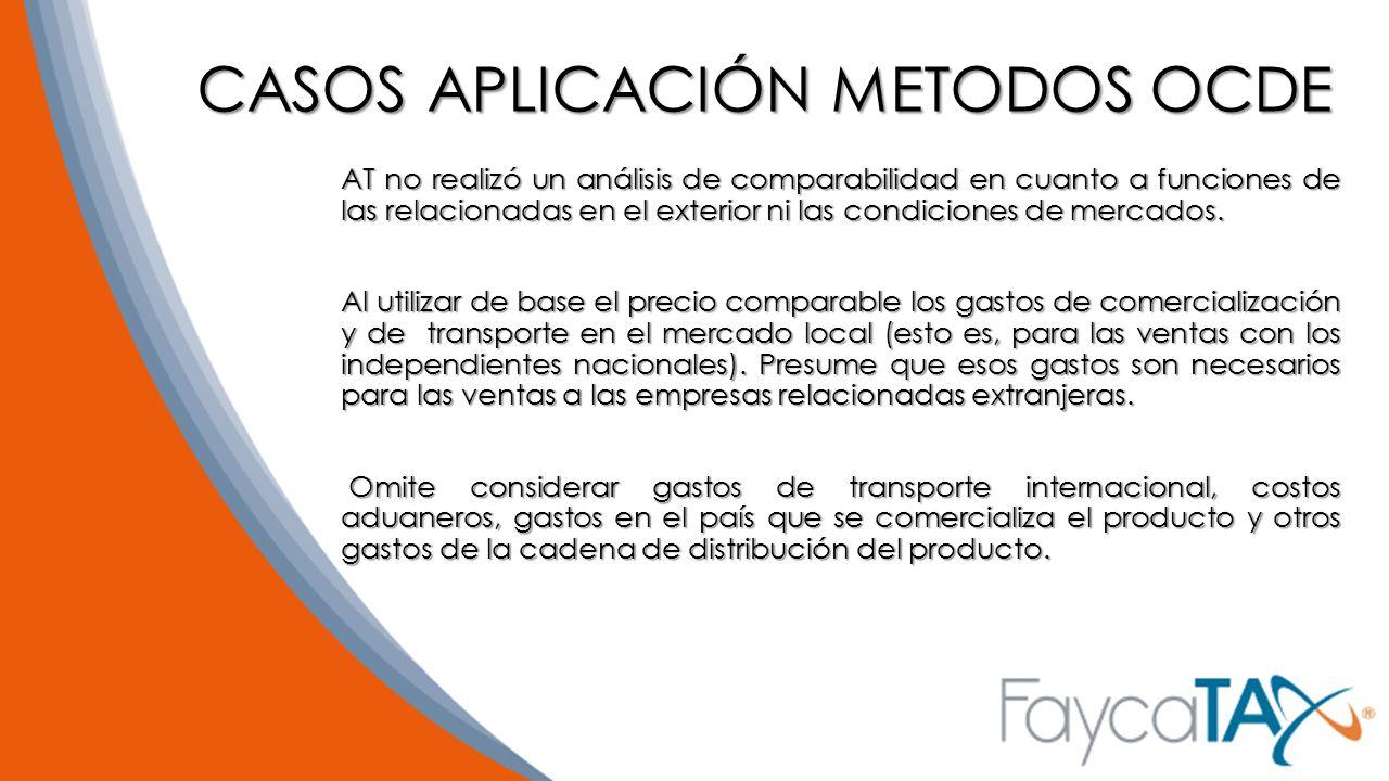 CASOS APLICACIÓN METODOS OCDE