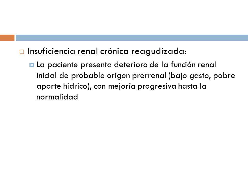 Insuficiencia renal crónica reagudizada: