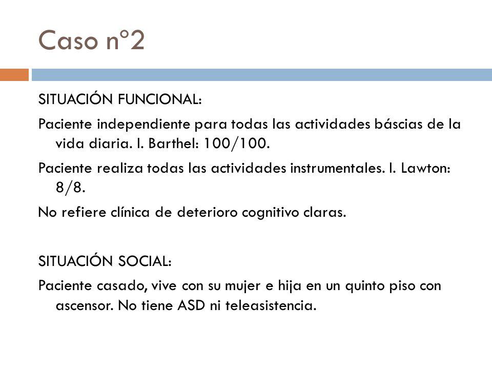 Caso nº2 SITUACIÓN FUNCIONAL: