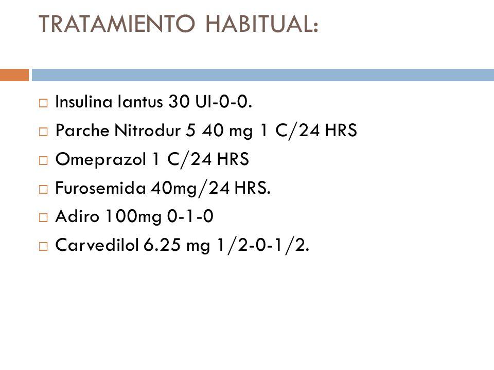 TRATAMIENTO HABITUAL: