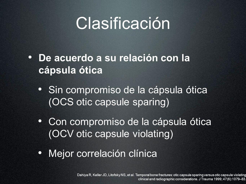 Clasificación De acuerdo a su relación con la cápsula ótica
