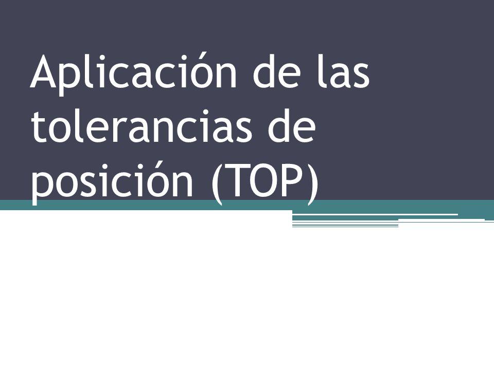 Aplicación de las tolerancias de posición (TOP)