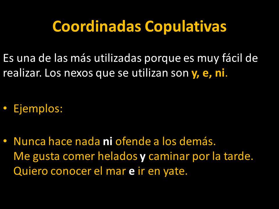 Coordinadas Copulativas