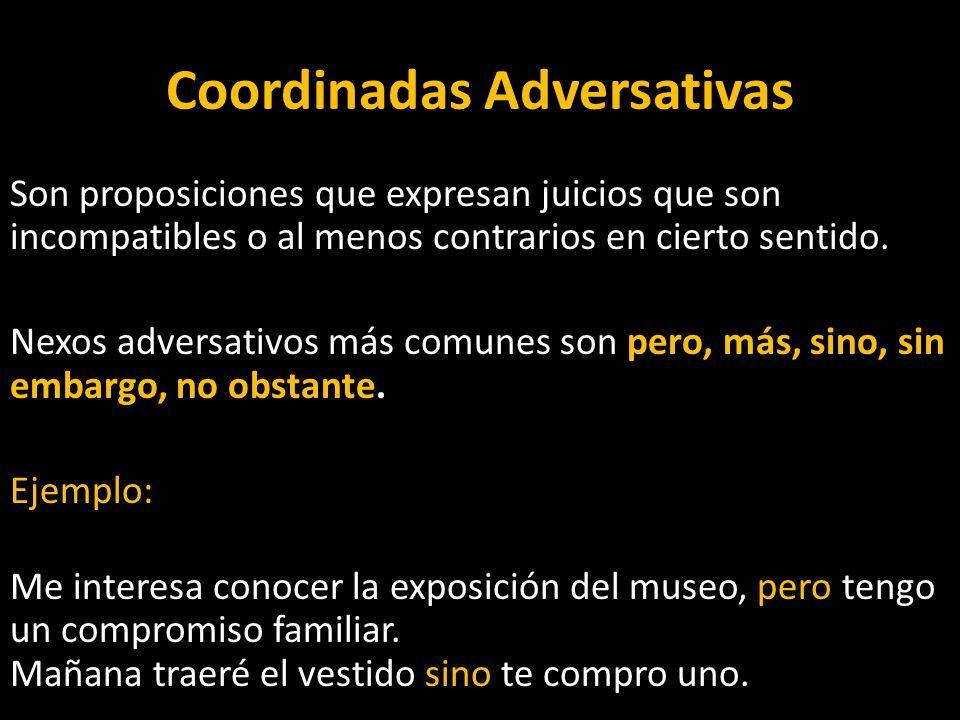 Coordinadas Adversativas