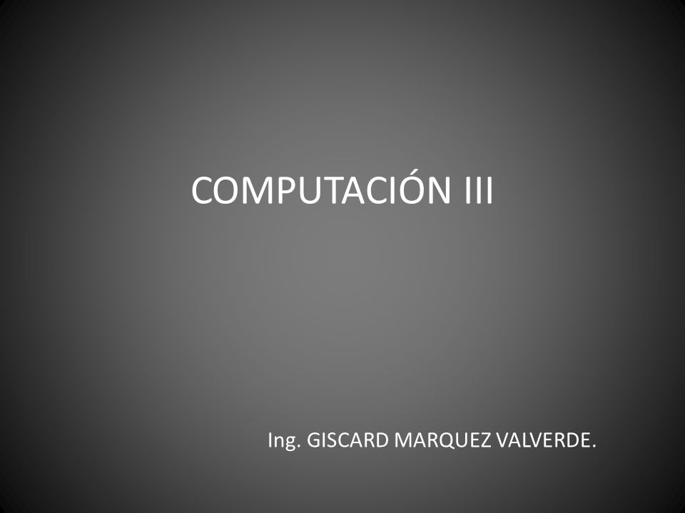 Ing. GISCARD MARQUEZ VALVERDE.
