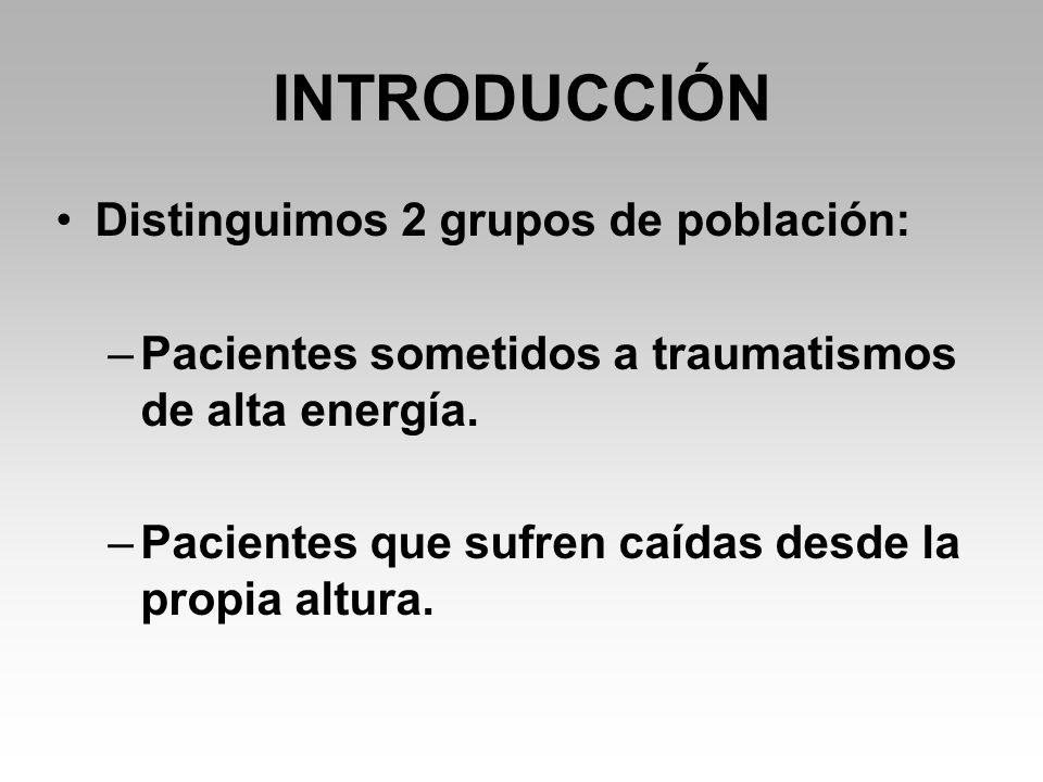 INTRODUCCIÓN Distinguimos 2 grupos de población: