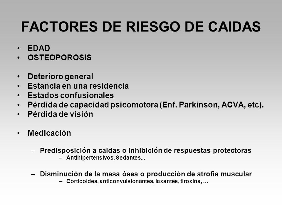 FACTORES DE RIESGO DE CAIDAS