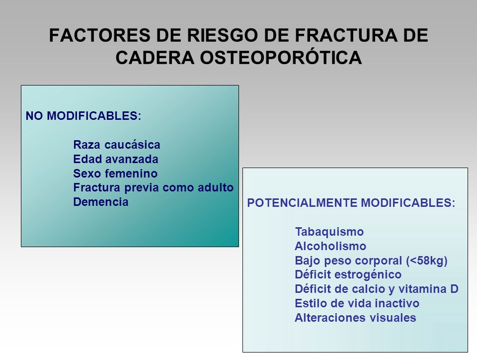 FACTORES DE RIESGO DE FRACTURA DE CADERA OSTEOPORÓTICA