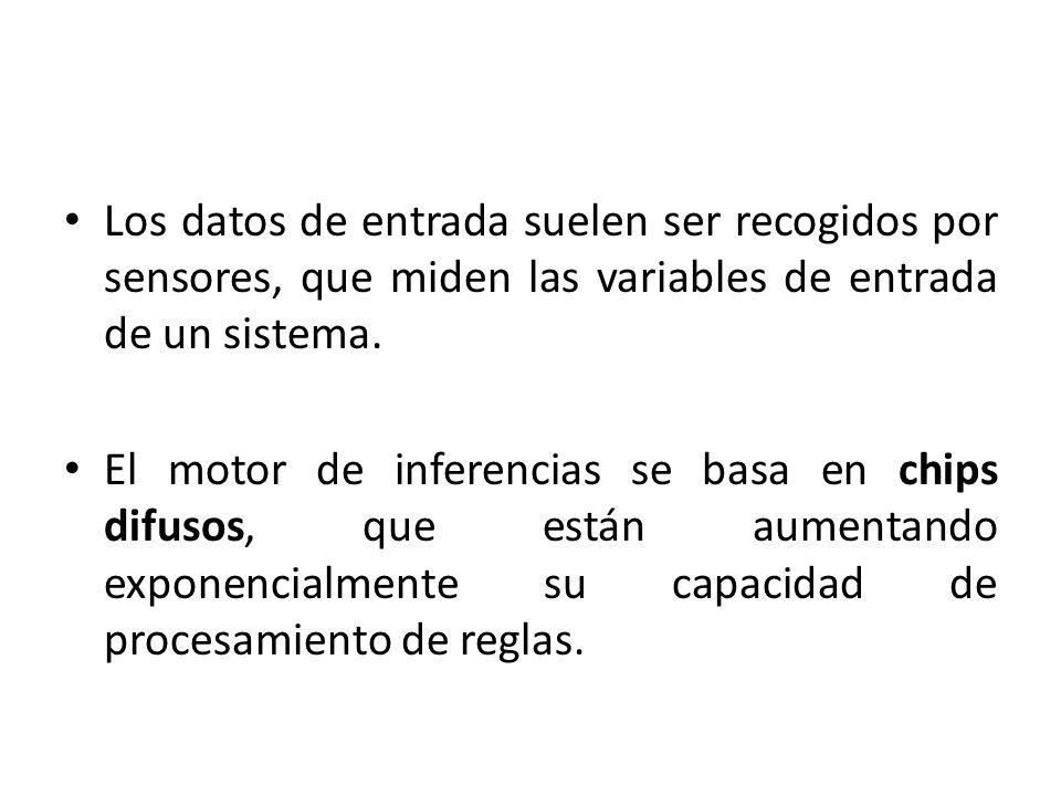 Los datos de entrada suelen ser recogidos por sensores, que miden las variables de entrada de un sistema.