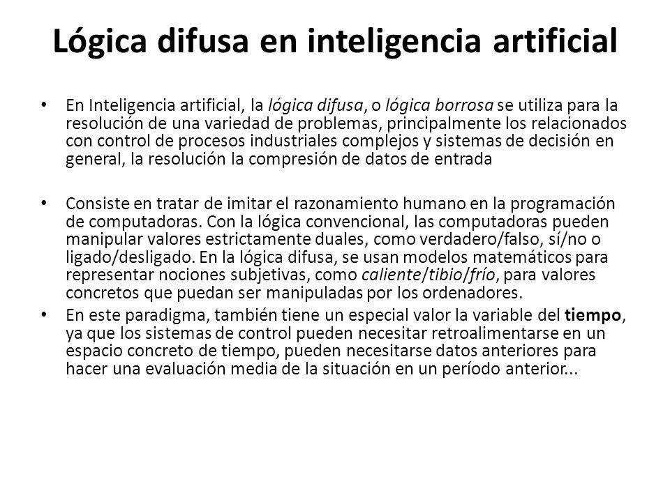 Lógica difusa en inteligencia artificial
