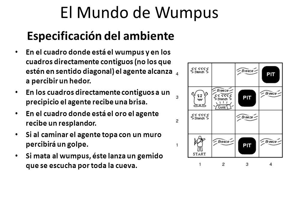 El Mundo de Wumpus Especificación del ambiente