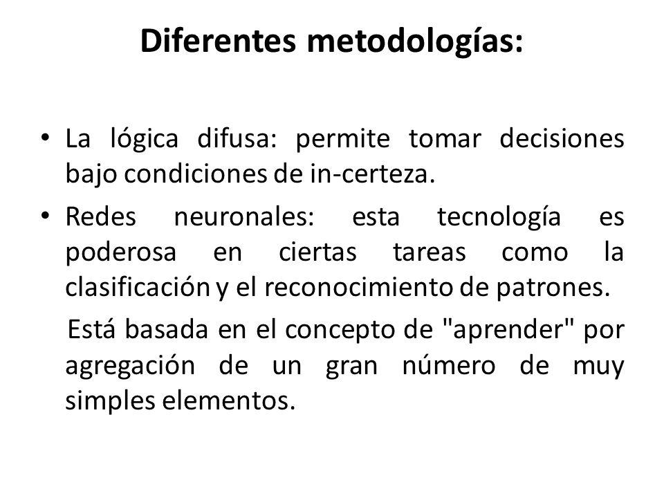 Diferentes metodologías: