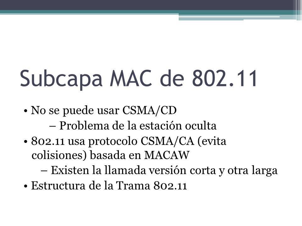 Subcapa MAC de 802.11