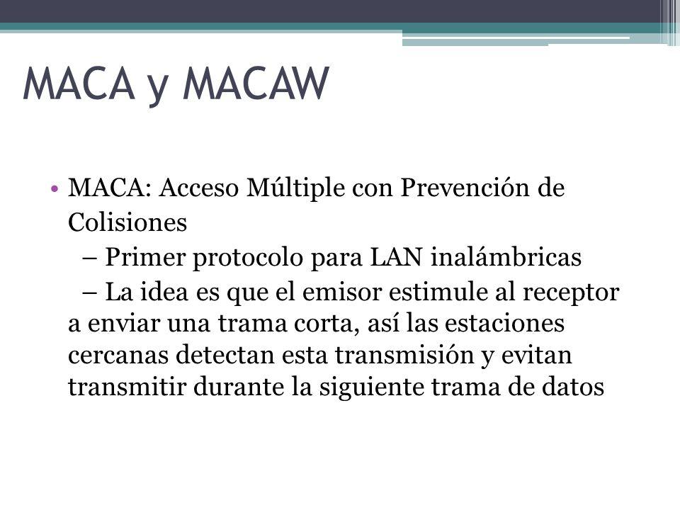 MACA y MACAW MACA: Acceso Múltiple con Prevención de Colisiones