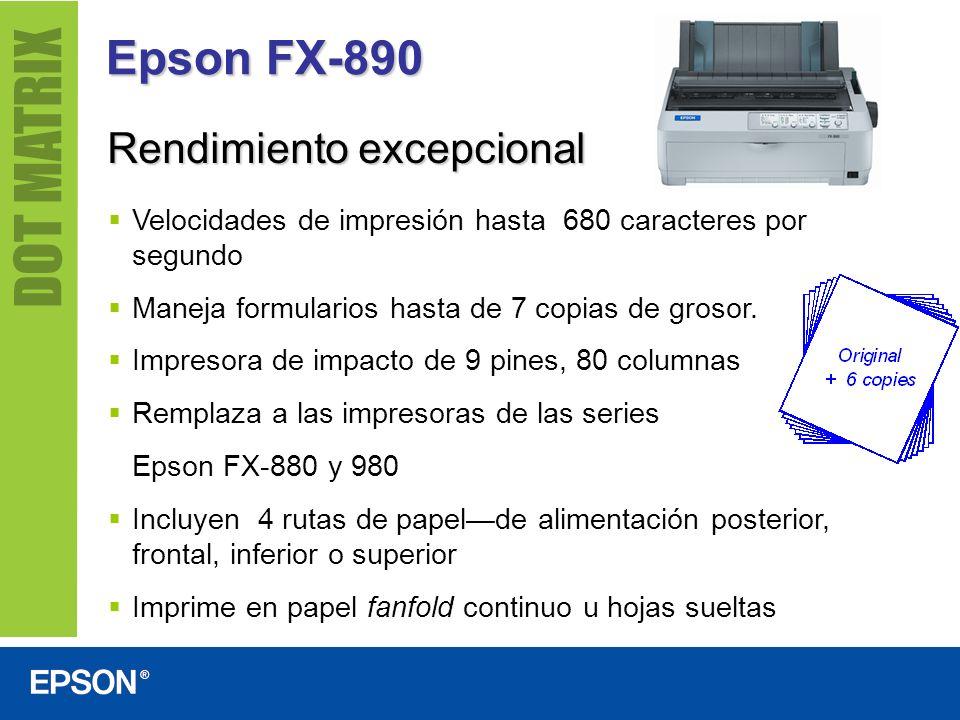 Epson FX-890 Rendimiento excepcional