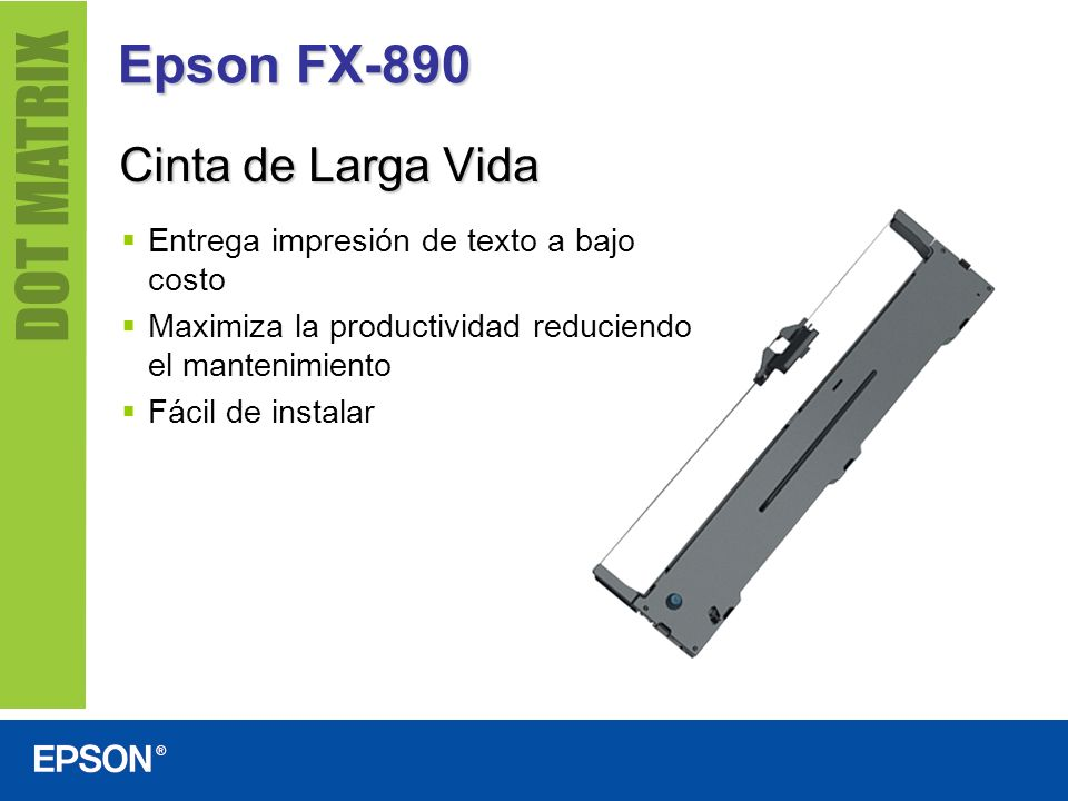 Epson FX-890 Cinta de Larga Vida