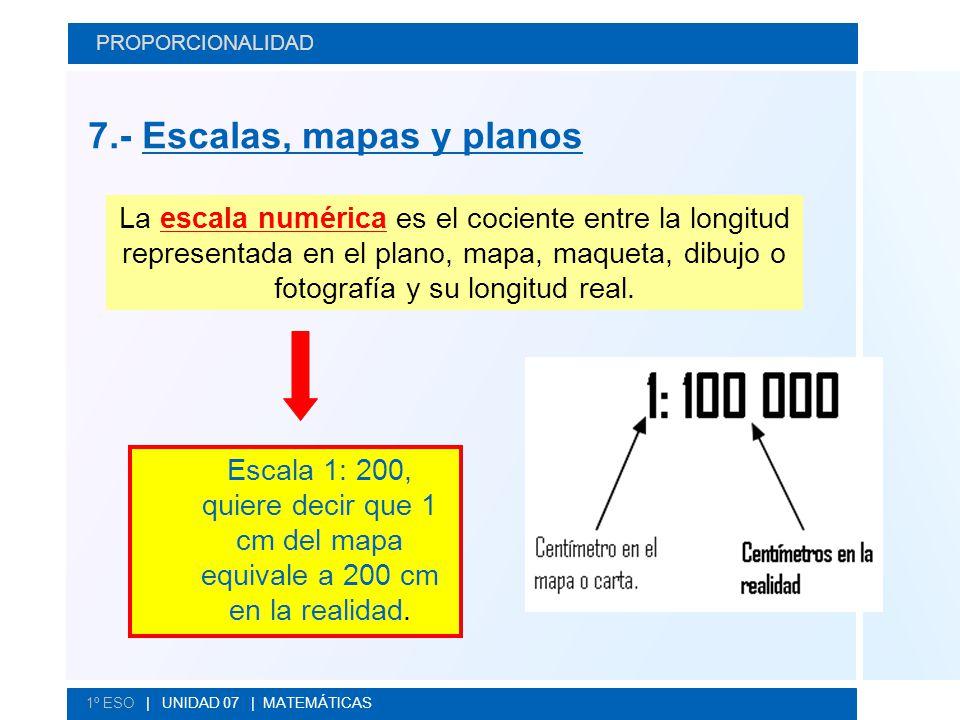 7.- Escalas, mapas y planos