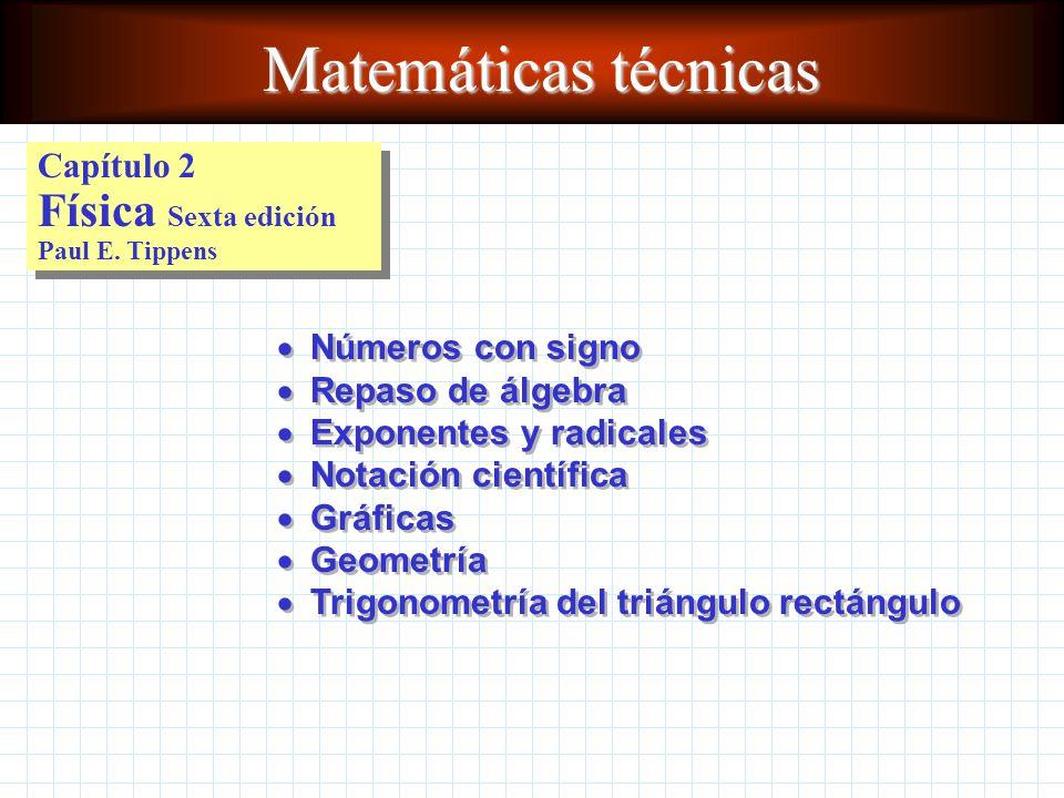 Matemáticas técnicas Capítulo 2 Física Sexta edición Paul E. Tippens