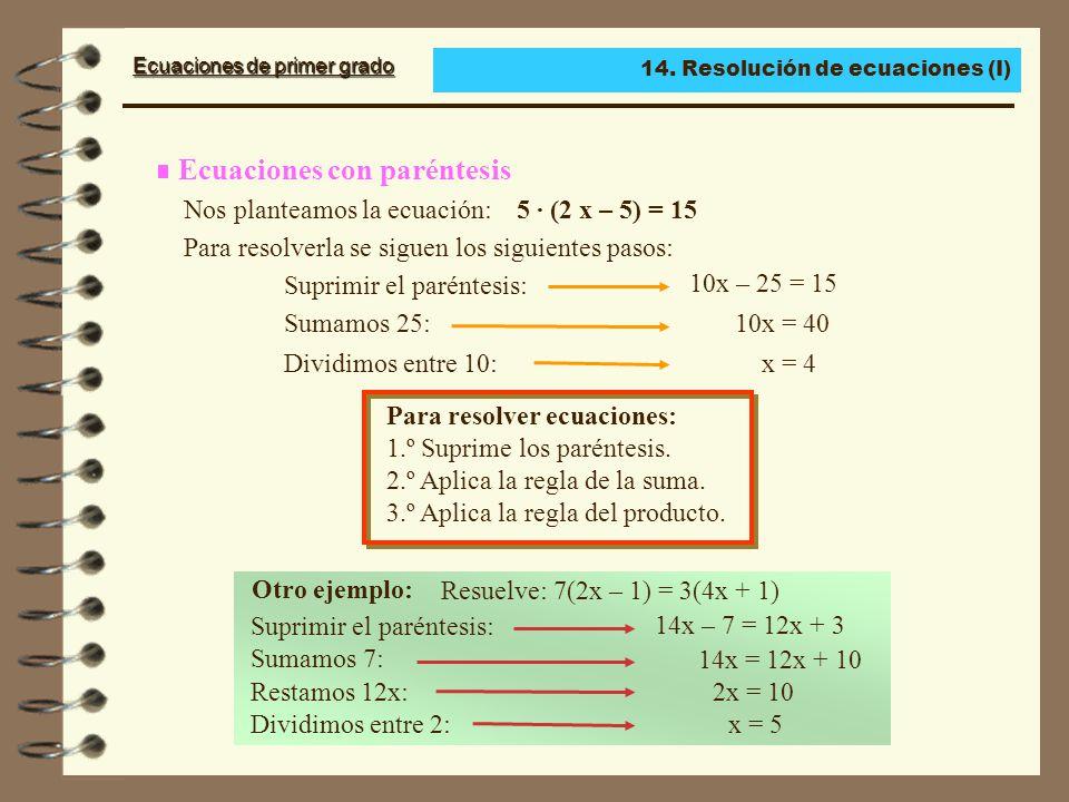 Ecuaciones con paréntesis